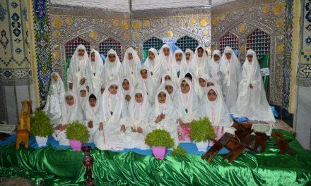 تصاویری از جشن تکلیف و آغاز بهار عبادت دانش آموزان در بیت الرضا علیه السلام