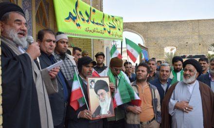 راهپیمایی پرشور مردم علیه اغتشاشات روزهای اخیر در شهرستان بافق + عکس