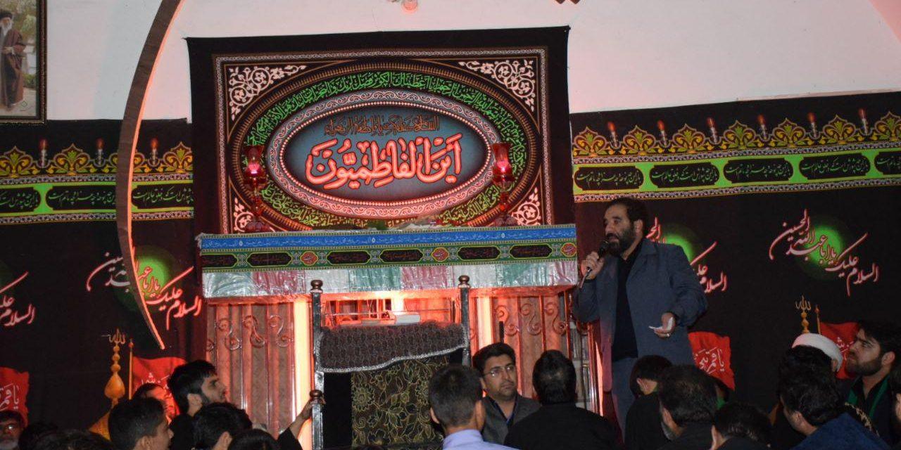 چهارمین شب مراسم عزادارے دهہ دوم فاطمیه با حضور یکی از شهدای گمنام