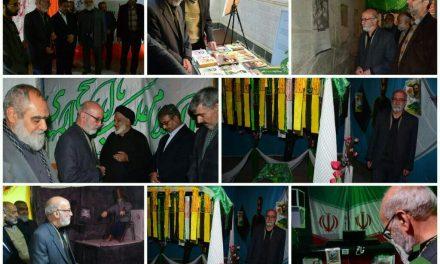 بازدید جمعی از یادگاران دفاع مقدس از نمایشگاه