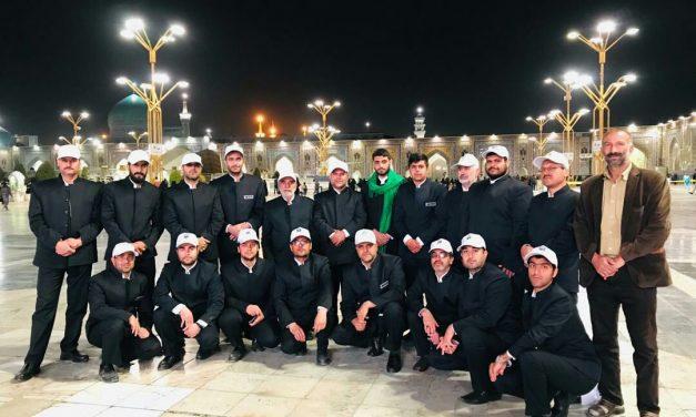 حضور اولین گروه خادمیاری موسسه در آستان قدس رضوی