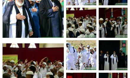 عزاداری کاروان پیاده در روز شهادت امام جعفر صادق (ع)