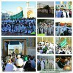 ورود کاروان پیاده به مشهد مقدس