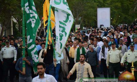 مراسم استقبال کاروان زیارتی پیاده امام رضا (ع)