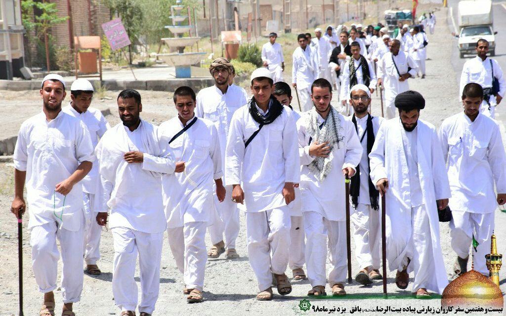 روز دهم کاروان پیاده امام رضا (ع)