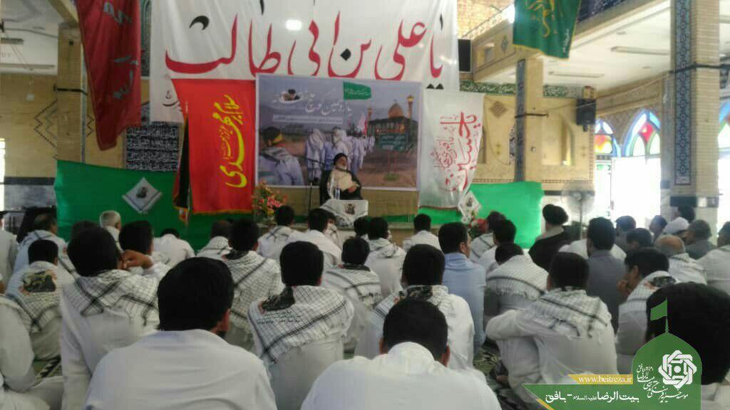 حضور  بنیان گذار کاروان پیاده در فیروزآباد فارس