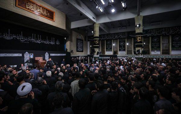 آخرین شب عزاداری درحسینیه امام خمینی(ره)