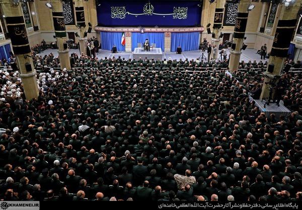 دیدار مجمع عالی فرماندهان سپاه با فرمانده کل قوا