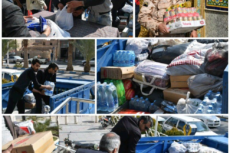 ارسال کمک های مردمی مورد نیاز سیل زدگان