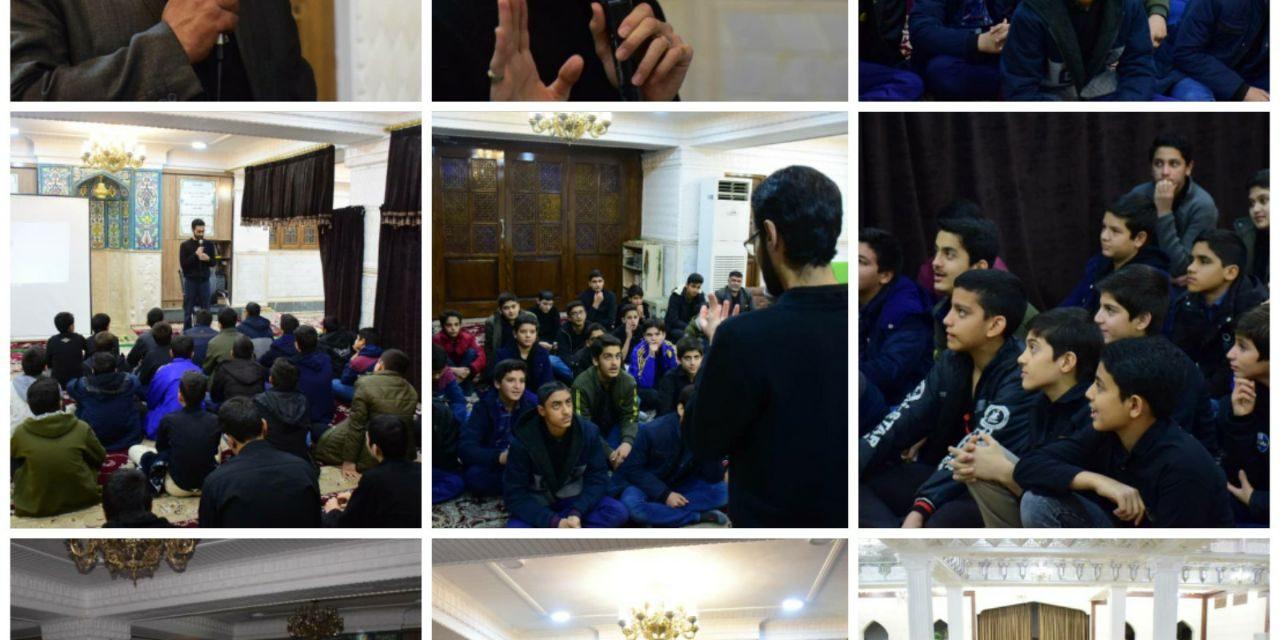 حضور دانش آموزان مدرسه شهید اکبریان در موسسه