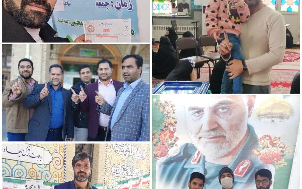 حضور بسیجیان پایگاه در انتخابات