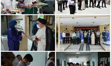 قدردانی از زحمات کادر درمانی و پرسنل بیمارستان