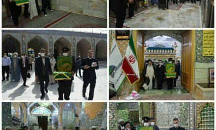 حضور خدام آستان قدس رضوی در امامزاده عبدالله بافق