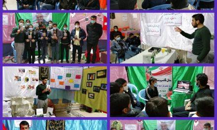 """بازدید نوجوانان رضوی از نمایشگاه """"فراتر از #زمان، فراتر از #مکان، مثل #حاج_قاسم"""""""